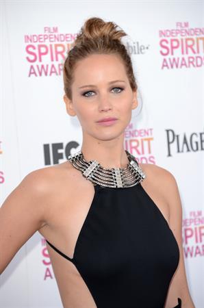 Jennifer Lawrence 2013 Film Independent Spirit Awards in Santa Monica - Feb. 23 2013