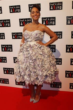 Alicia Keys at the Keep a Child Alive Black Ball event in London on May 26, 2010