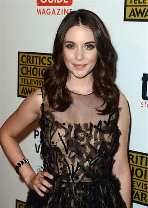 Alison Brie attends the 2012 Critics Choice Television Awards in Beverly Hills on June 18, 2012
