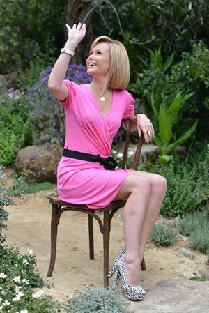 Amanda Holden Chelsea Flower Show on May 21, 2012
