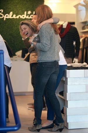 Amy Smart, Ali Larter and Jessica Alba at the Splendid store opening with crafting community and baby2baby 04.12.11