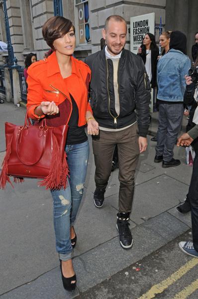 Frankie Sandford London Fashion Week, Feb 15, 2013