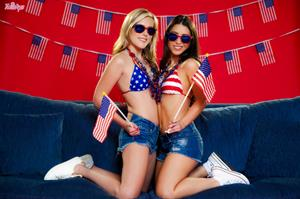 Red, White And Pussy.. featuring Sasha Heart, Serena Blair | Twistys.com