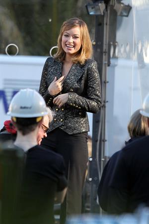 Olivia Wilde on the set of Burt Wonderstone in Las Vegas on January 10, 2012