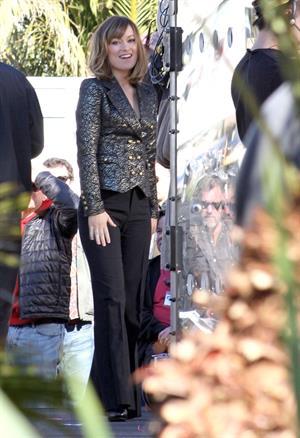 Olivia Wilde on the set of burt wonderstone in las vegas 100112