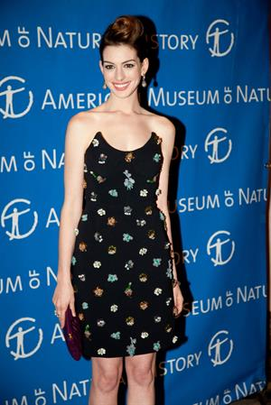 Anne Hathaway attends the American Museum of National History's 2010 Museum Gala in New York City on November 18, 2010