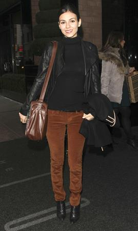 Victoria Justice out and about in New York 2/12/13