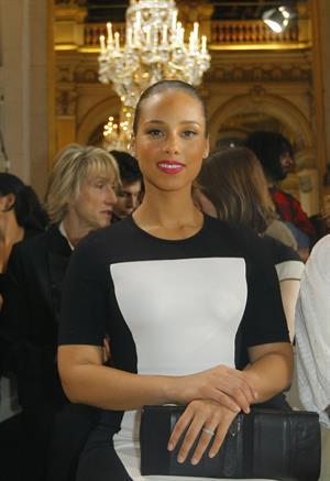 Alicia Keys attends the Stella McCartney Fashion House Presentation in Paris on March 5, 2012