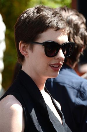 Anne Hathaway Christopher Nolan immortalized with hand and footprint ceremony on July 7, 2012