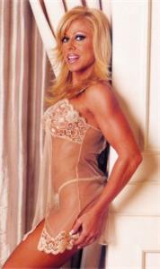 Terri Runnels in lingerie