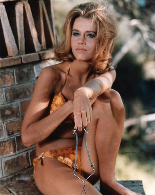 Jane Fonda in a bikini