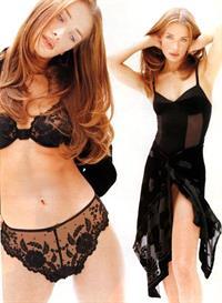 Angelika Kallio in lingerie