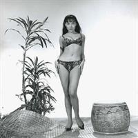 Irene Tsu in a bikini