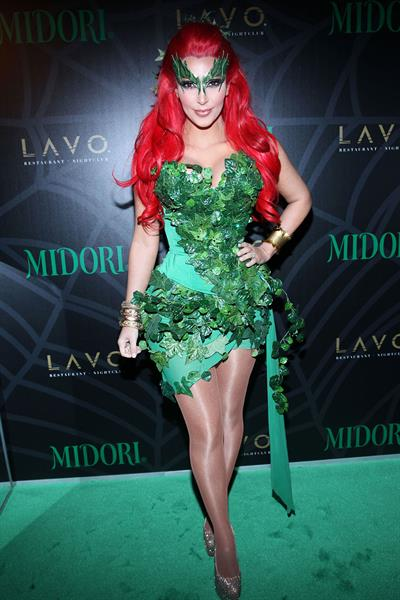 Kim Kardashian as Poison Ivy for Halloween