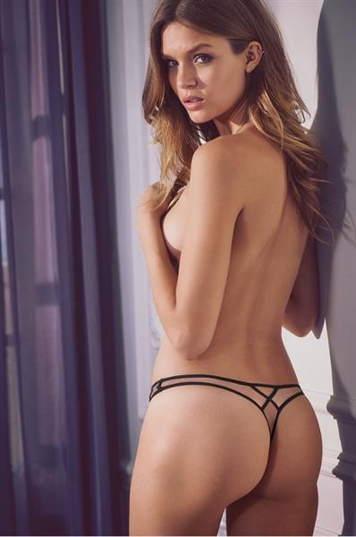 Josephine Skriver in lingerie - ass