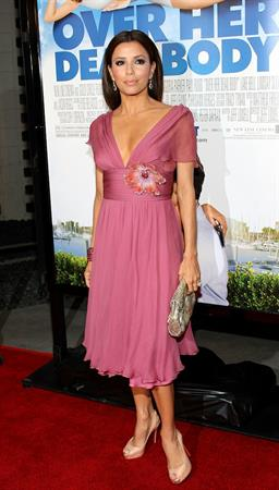 Eva Longoria attending the Over Her Dead Body premiere