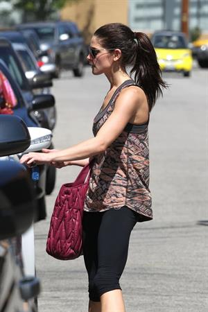 Ashley Greene leaving the gym in Studio City on May 30, 2012