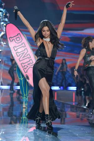 Selena Gomez performing at the 2015 Victoria's Secret Fashion Show