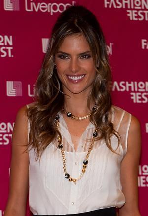 Alessandra Ambrosio attends Fashion Fest Liverpool 2009 at Liverpool Santa Fe in Mexico City