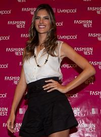 Alessandra Ambrosio attends Fashion Fest Liverpool 2009 at Liverpool Santa Fe in Mexico City