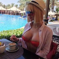 Alena Politukha in a bikini
