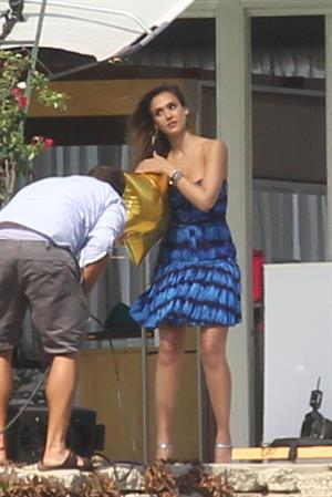 Jessica Alba posing for a magazine photoshoot on June 15, 2012