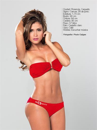 Daniela Jaramillo in a bikini