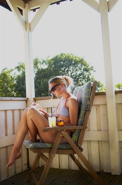 Meg Bennet in a bikini