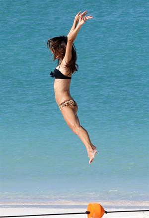 Alessandra Ambrosio in a bikini at a Victoria's Secret shoot in St Barth on October 10, 2010