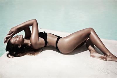 Antonia Iacobescu in a bikini