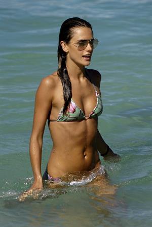 Alessandra Ambrosio Saint Barthelemy Candids on January 22, 2009
