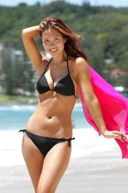Mylene Klass in a bikini