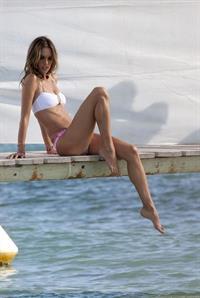 Alessandra Ambrosio in a bikini