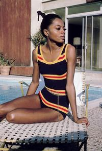 Diana Ross in a bikini