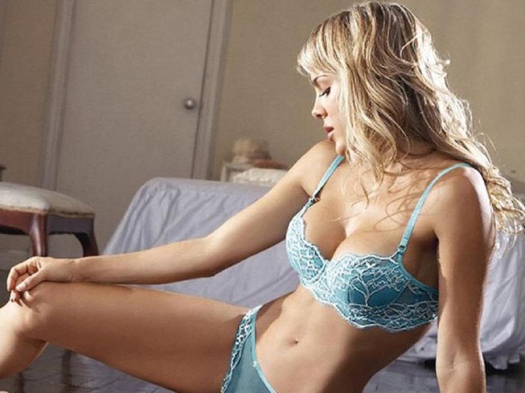 Natalia Paris in lingerie