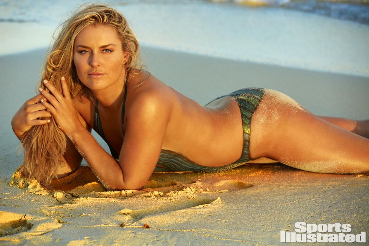 Lindsey Vonn works out in body paint in Sports Illustrated
