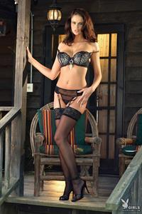 Beth Williams in lingerie