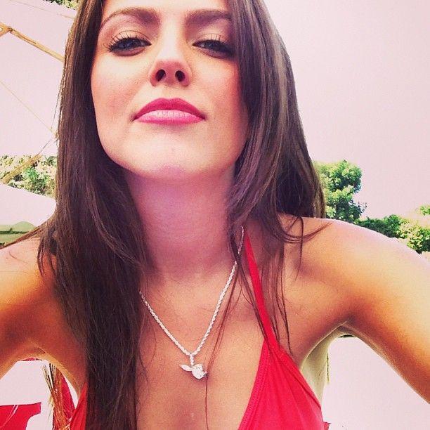 Val Keil in a bikini taking a selfie