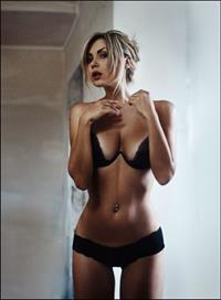 Evgeniya Rudaya in lingerie