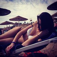 Dasha Dereviankina in a bikini