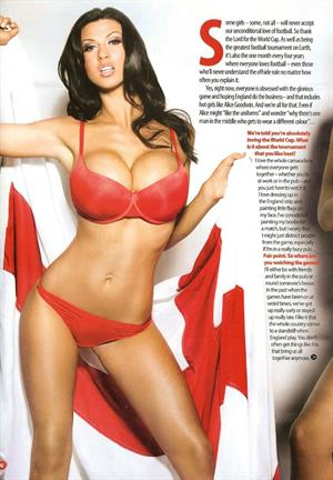 Alice Goodwin in a Zoo photoshoot