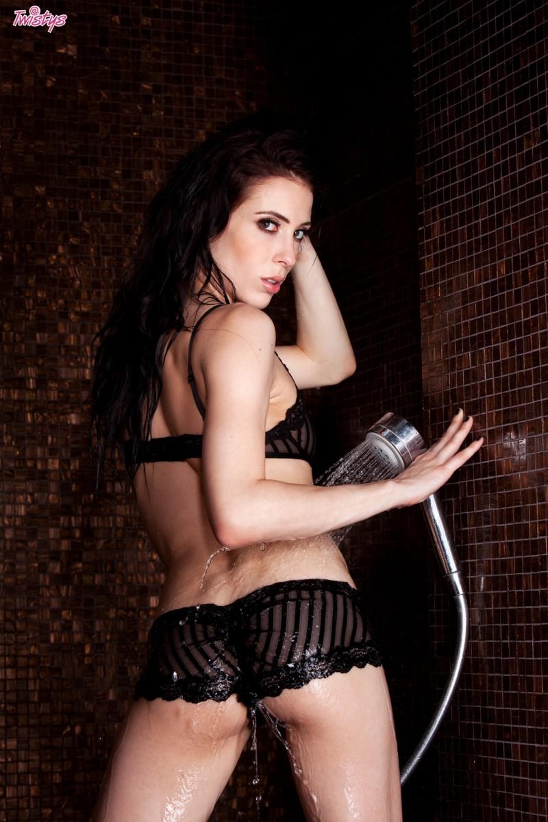 Aiden Ashley in lingerie - ass