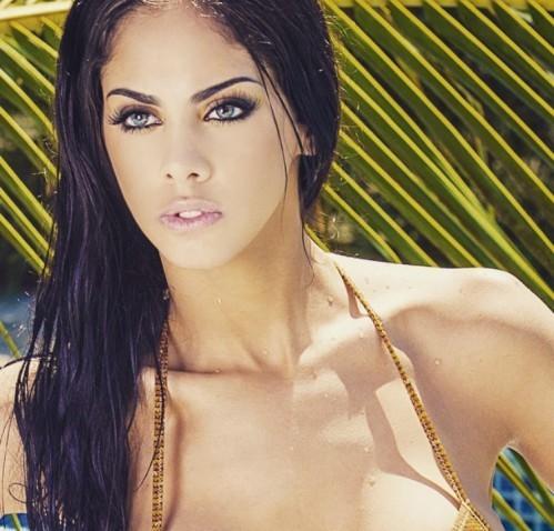 Maria Guadalupe Gonzalez in a bikini taking a selfie