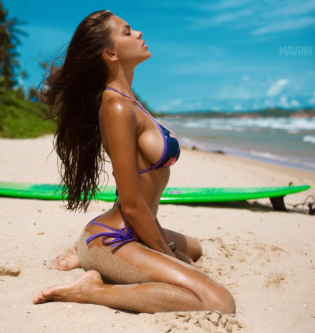 Viktoria Odintsova in a bikini