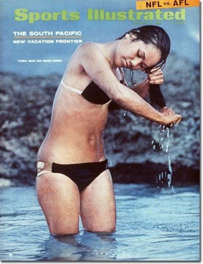 Turia Mau in a bikini
