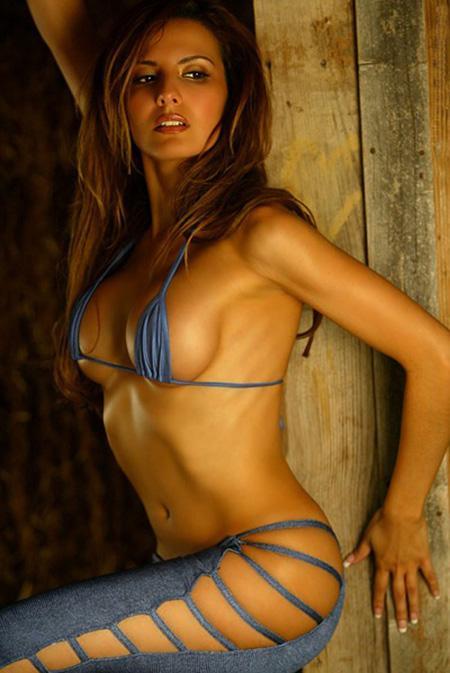 Gloria Santiago in a bikini