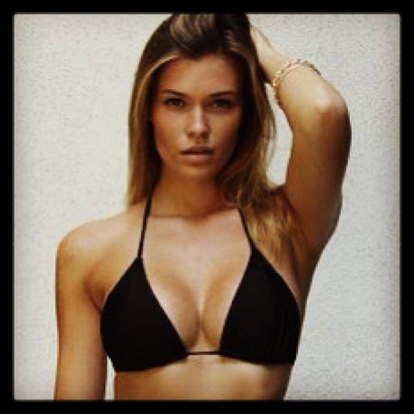 Samantha Hoopes in a Bikini Top