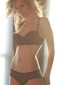 Amy Grabow in lingerie