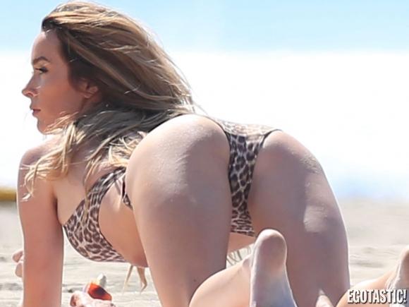 Nikki Sixx brand new bride with a bikini last summer.