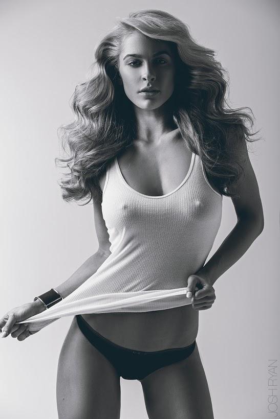 Ellie Gonsalves in lingerie